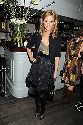Actress EMILIA FOX at a party to celebrate the launch of the Cowshed range of cosmetics in aid of the charity Hope & Homes for Children, held at 15-17 Old Compton Street, London on 19th November 2008.