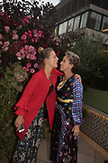 SOPHIE MOSS, NIKKI TIBBLES spotted at Bloom & Wild's exclusive event at 5 Hertford Street last night. 5 September 2017. The event was announcing the new partnership between the UK's most loved florist, Bloom & Wild and British floral design icon Nikki Tibbles Wild at Heart. Cocooned in swaths of vibrant Autumn blooms, guests enjoyed floral-inspired cocktails from Sipsmith and bubbles from Chandon, with canapés put on by 5 Hertford Street. Three limited edition bouquets from the partnership can be bought through Bloom & Wild's website from the 1st September.  bloomandwild.com/WAH