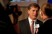 Salt Lake County mayoral candidate Mark Crockett speaks with KSL at the Utah Republican Party results party, Tuesday, Nov. 6, 2012.