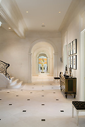 11231 River View Rd Marwood estate on the Potomac Maryland Hallway foyer entrance archway Stair stairway
