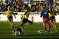 Fotball, Adecco-ligaen, 23.04.06, Tromsdalen - Moss<br /> Eirik Sørensen (Tromsdalen) og John Machethe Muiruri (Moss)<br /> Foto: Tom Benjaminsen, Digitalsport