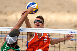 Yorick de Groot (2) of The Netherlands in action during CEV Continental Cup Final Day 1 - Women on June 23, 2021 in The Hague