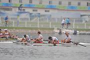 Shunyi, CHINA.  NED M4- (b) CIRKEL Geert, VELLENGA Matthijs, GABRIELS Jan-Willem, VERMEULEN Gijs, lose in their semi final semi-final in the men's fours, at the 2008 Olympic Regatta, Shunyi Rowing Course. 13/08/2008  [Mandatory Credit: Peter SPURRIER, Intersport Images]
