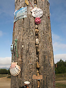 At the Iron Cross pilgrims would hang mementoes and place stones in the cracks of the tall trunk. On top of the trunk was a simple iron cross. The site was a significant point along the Way of Saint James to Santiago de Compostela.
