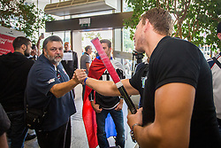 Arrival of Slovenian ice hockey players after winning qualifying tournament in Minsk for the Olympic games 2018 on September 5, 2016 in Airport Joze Pucnik, Brnik, Slovenia. Photo by Ziga Zupan / Sportida