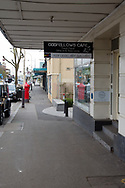 A view of the front of Odd Fellows cafe where a staff member tested positive to Coronavirus leaving the town virtually empty amid concerns of a rapid spread throughout the area during COVID-19 in Kilmore, Australia. An outbreak which started in Chadstone in Melbourne, has spread as far as Benalla. Twenty-eight people linked to the outbreak have now tested positive for COVID-19. There are now two confirmed cases in Kilmore linked with a Melbourne Resident who carried the virus into the town. The person visited the Odd Fellows Cafe in Kilmore which lead to him spreading the virus to a staff member, and a customer. The cafe has been closed for deep cleaning and will remain closed until the 19th October. (Photo by Dave Hewison/Speed Media)