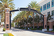 Schmid Gate at Chapman University in Orange California