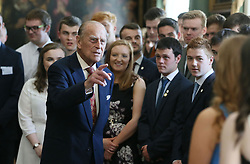 File photo dated 25/05/17 of the Duke of Edinburgh hosting the Duke of Edinburgh's Award gold award presentations at Hillsborough Castle in Co Down. The Duke of Edinburgh's Award is likely to be judged Prince Philip's greatest legacy. Issue date: Friday April 4, 2021.