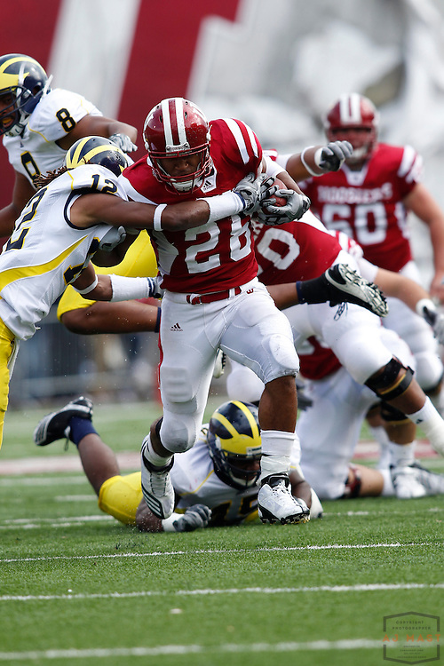 02 October 2010: Indiana Hoosiers running back Darius Willis (28) as the Indiana Hoosiers played the Michigan Wolverines in a college football game in Bloomington, Ind.