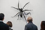 Louis Bourgeois, Spider 1 - Frieze Masters London 2015, Regents Park, London. It covers several thousand years of art from 130 of the world's leading modern and historical galleries. The vetted artworks spanning antiquities, Asian art, ethnographic art, illuminated manuscripts, Medieval, modern and post-war, Old Masters and 19th-century, photography, sculpture and Wunderkammer are brought together in a singular space designed by Anabelle Selldorf.  The fair is open to the public 14–17 October.