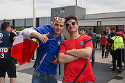 France fans during the Group A Euro 2016 match between France and Romania at the Stade de France, Saint-Denis, Paris, France on 10 June 2016. Photo by Phil Duncan.