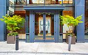 Hotel lobby doors in Philadelphia, PA.
