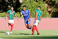 Mateo Cassierra suffers a foul in penalty area during the Liga NOS match between Belenenses SAD and Maritimo at Estadio do Jamor, Lisbon, Portugal on 17 April 2021.