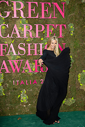 Michelle Hunziker attends the Green Carpet Fashion Awards Gala during Milan Fashion Week Spring/Summer 2019 on September 23, 2018 in Milan, Italy. Photo by Marco Piovanotto/ABACAPRESS.COM