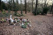 Nederland, Heilig Landstichting, 18-12-2013Begraaf- en gedenkpark Heilig Land Stichting is de naam van een begraafplaats in Heilig Landstichting. De gehele begraafplaats met haar landschappelijke aanleg en bijzondere beplantingen is Rijksmonument. Ook de grafmonumenten, alle van de hand van Piet Gerrits. De begraafplaats is historisch gezien verbonden aan de parochiele Cenakelkerk en het Museumpark Orientalis. In 1911 werd door de Waalwijkse priester Arnold Suys een pelgrimsoord opgericht voor mensen die niet in staat waren naar het Heilige Land te gaan, waar momenten van het leven van Jezus nagebouwd en uitgebeeld werden. Om het park te bekostigen werd een gedeelte van de beschikbare grond verkocht, waarop het dorpje Heilig Landstichting werd gesticht. Het is een dorp in de gemeente Groesbeek, Gelderland. De plaats ligt tegen Nijmegen aan. Het dorp is genoemd naar het hier gelegen Museumpark Orientalis,voorheen de Heilige Landstichting. FOTO: FLIP FRANSSEN/ HOLLANDSE HOOGTE