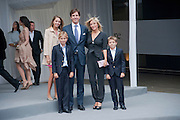 Crown Prince Pavlos ; PRINCESS Marie-Chantal Miller; Princess Maria-Olympia of Greece and Denmark; Prince Constantine Alexios of Greece and Denmark;  Prince Achileas-Andreas of Greece and Denmark,<br /> Ark- Absolute Return for Kids. Fundraiser at Waterloo Euroster terminal. London. 13 May 2010. -DO NOT ARCHIVE-© Copyright Photograph by Dafydd Jones. 248 Clapham Rd. London SW9 0PZ. Tel 0207 820 0771. www.dafjones.com.