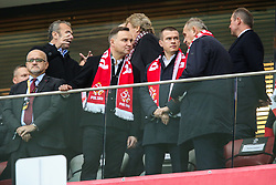 October 8, 2017 - Warsaw, Poland - Andrzej Duda, Witold Banka,  during Poland and Montenegro World Cup 2018 qualifier match in Warsaw, Poland, on 8 October 2017. POLAND won 4-2 and take on their World Cup 2018 qualifier. (Credit Image: © Foto Olimpik/NurPhoto via ZUMA Press)