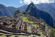 The Citadel at Machu Picchu which was an Inca city in the Andes mountains