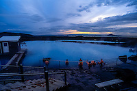 Iceland. Mývatn Nature Baths. Geothermal spa close to Myvatn.
