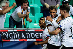 LJUBLJANA, SLOVENIA - JUNE 06: Lukas Nmecha of Germany celebrates with Salih Özcan of Germany after scoring their side's first goal  during the 2021 UEFA European Under-21 Championship Final match between Germany and Portugal at Stadion Stozice on June 6, 2021 in Ljubljana, Slovenia.Photo by Grega Valancic / Sportida