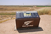 Information board with details of the First World War Campaign in the Middle East at Tel Sheva, Beersheba, Israel