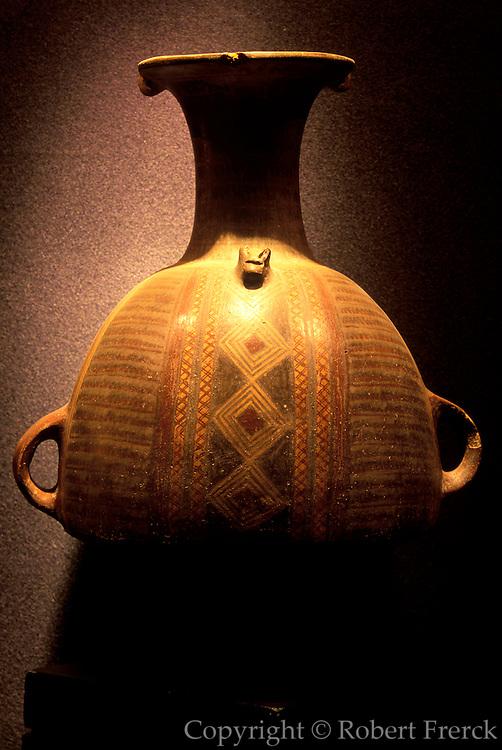 ECUADOR, PREHISPANIC Inca Culture: ceramic funerary vessel