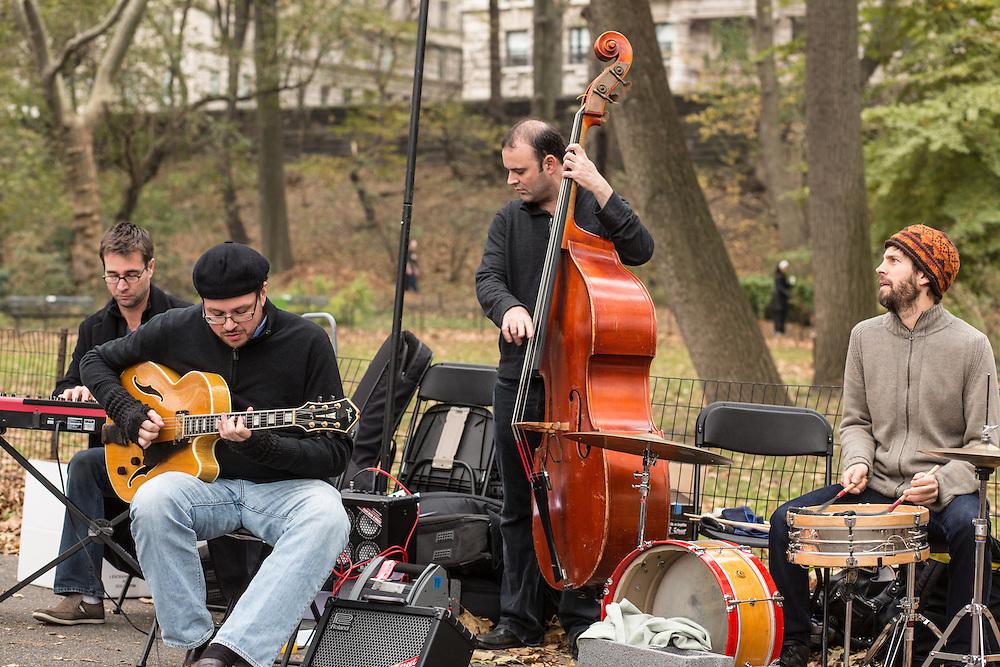 The Dougn Wanble Quartet: (left to right) Roy Dunlap (keys), Doug Wanble (guitar), Jeff Hanley (bass), Bill Campbell (drums).
