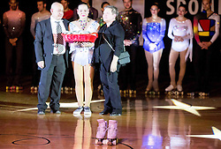 Lucija Mlinaric with her parents during special artistic roller skating event when Lucija Mlinaric of Slovenia, World and European Champion ended her successful sports career, on November 7, 2015 in Rence, Slovenia. Photo by Vid Ponikvar / Sportida