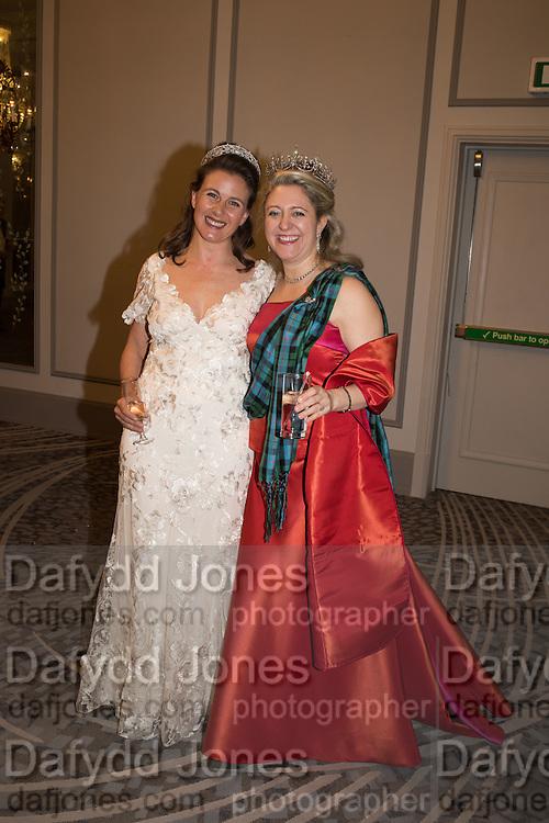 SAM GODSALL; MRS. HOUSTON MORRIS The Royal Caledonian Ball 2016. Grosvenor House. Park Lane, London. 29 April 2016