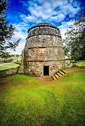 The doocot in the garden at Dirleton Castle, a ruined medieval fortress in the village of Dirleton, East Lothian, Scotland.<br /> <br /> (c) Andrew Wilson   Edinburgh Elite media