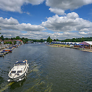 The river and boat park - Tuesday 2 July 2019 at Henley on Thames, England, UK.  © Copyright photo Steve McArthur / @RowingCelebration www.rowingcelebration.com