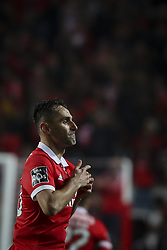 January 3, 2018 - Lisbon, Portugal - Benfica's forward Jonas celebrates after scoring during the Portuguese League  football match between SL Benfica and Sporting CP at Luz  Stadium in Lisbon on January 3, 2018. (Credit Image: © Carlos Costa/NurPhoto via ZUMA Press)
