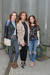 Left to right, VALENTINE FILLOL CORDIER, ADWOA ABOAH and STEPHANIE LA CAVA at a supper and screening of 'No More Tiaras' a film by Mary Nighy held at Shrimpy's, King's Cross Filling Station, Goods Way, London on 7th May 2014.