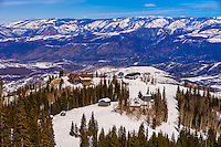 Sam's Smokehouse restaurant (on the mountain), Snowmass/Aspen ski resort, Snowmass Village (Aspen), Colorado USA.