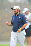 Shane Lowry (IRL) on the 17th green during Saturay's Round 3 of the 2014 BMW Masters held at Lake Malaren, Shanghai, China. 1st November 2014.<br /> Picture: Eoin Clarke www.golffile.ie