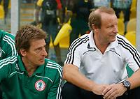 Photo: Steve Bond/Richard Lane Photography.<br />Ghana v Nigeria. Africa Cup of Nations. 03/02/2008. Bertie Vogts (R) before kick off