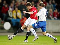 Fotball , 24 . mars 2007 , EM-kvalifisering , Gruppe C , Norge - Bosnia Herzegovina 1-2<br /> Frode Johnsen , Norge og  Brainslav Krunic , Bosnia<br /> <br /> Norway