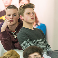 Lasse Dietrich and Joshua Breslin listening to the speakers at the Fishbowl Youth open day/15 yr celebration @ Scariff Library