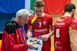 17-02-2019 NED: National Cupfinal Draisma Dynamo - Abiant Lycurgus, Zwolle<br /> Dynamo surprises national champion Lycurgus in cup final and beats them 3-1 / Verzorger Rob van den Berg, Rik van Solkema #7 of Dynamo