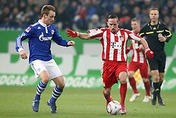 04.12.2010,  Arena Auf Schalke, Gelsenkirchen, GER, 1.FBL, Schalke 04 vs FC Bayern Muenchen, 15. Spieltag, im Bild: Ivan Rakitic (Schalke #10) (li.) gegen Franck Ribery (Muenchen #7) (re.)  EXPA Pictures © 2010, PhotoCredit: EXPA/ nph/  Mueller.       ****** out ouf GER ******
