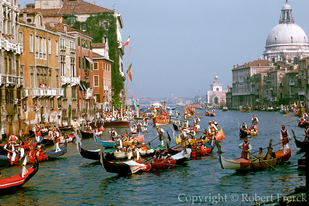 ITALY, VENICE Grand Regatta on Canal Grande
