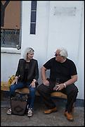 ELIZABETH PRICE; BRIAN CATLING, Matt's Gallery 35th birthday fundraising supper.  42-44 Copperfield Road, London E3 4RR. 12 June 2014.