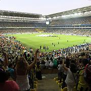 Fenerbahce's and Besiktas's during their Turkish Superleague soccer derby match Fenerbahce between Besiktas at Sukru Saracaoglu stadium in Istanbul Turkey on Sunday 07 October 2012. Photo by TURKPIX
