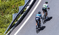 10.07.2019, Fuscher Törl, AUT, Ö-Tour, Österreich Radrundfahrt, 4. Etappe, von Radstadt nach Fuscher Törl (103,5 km), im Bild v.l.: Winner Andrew Anacona Gomez (Movistar Team, COL), Ben O'Connor (Team Dimension Data, AUS) // during 4th stage from Radstadt to Fuscher Törl (103,5 km) of the 2019 Tour of Austria. Fuscher Törl, Austria on 2019/07/10. EXPA Pictures © 2019, PhotoCredit: EXPA/ JFK