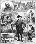 Robert Raikes (1735-1811) English philanthropist and founder of the Sunday School movement.  A printer from Gloucester, he opened his first Sunday School in 1780. Wood engraving, 1880