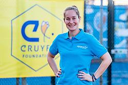 22-07-2018: Tennis: Ingeborg Houdijk: Alphen aan den Rijn<br /> <br /> Johan Cruyff Foundation Junior Wheelchair Tennis Camp<br /> <br /> Tenniscentrum Nieuwe Sloot