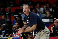 12.09.2014, City Arena, Madrid, ESP, FIBA WM, Frankreich vs Serbien, Halbfinale, im Bild France´s coach Vincent Collet // during FIBA Basketball World Cup Spain 2014 semifinal match between France and Serbia at the City Arena in Madrid, Spain on 2014/09/12. EXPA Pictures © 2014, PhotoCredit: EXPA/ Alterphotos/ Victor Blanco<br /> <br /> *****ATTENTION - OUT of ESP, SUI*****