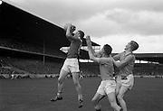 19/08/1962<br /> 08/19/1962<br /> 19 August 1962<br /> All Ireland Football Semi Final: Cavan v Roscommon at Croke Park, Dublin. The Cavan forward beats the Roscommon defence to the ball.