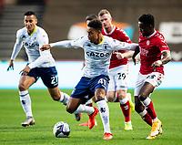 Football - 2020 / 2021 EFL Carabao Cup - Round Three - Bristol City vs  Aston Villa<br />  <br /> Jacob Ramsey of Aston Villa under pressure from Steven Sessegnon of Bristol City, at Ashton Gate.<br />  <br /> COLORSPORT/SIMON KING