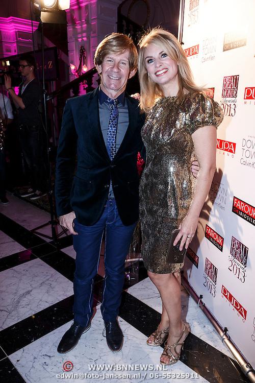 NLD/Amsterdam/20131111 - Beau Monde Awards 2013, Ontwerper Addy van den krommenacker en Pernille la Lau